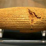 Cylinder Cyrusa - znaleziony w 1879 roku w Iraku